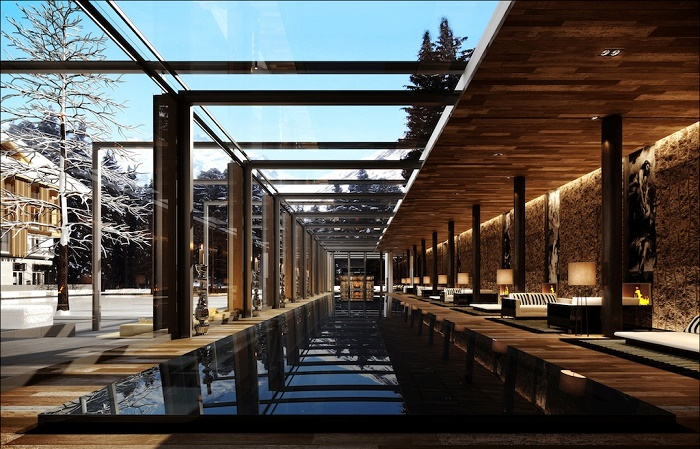 the chedi andermatt_swimming pool_rendering